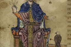 f03-Federico-in-trono-Federico-II-De-arte-venandi-cum-avibus